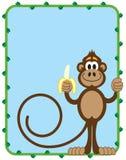 Aap met banaan Stock Afbeelding