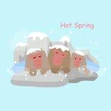 Aap met de hete Lente vector illustratie