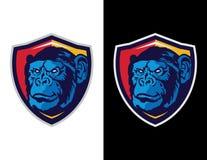 aap in modern dierlijk mascotteembleem voor esportembleem en t-shirtillustratie Royalty-vrije Stock Foto's
