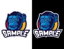 aap in moderne dierlijke mascotte voor esportembleem en t-shirtillustratie Royalty-vrije Stock Foto