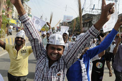 AAP rally in Varanasi. Stock Images