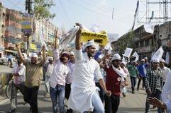 AAP samlar i Varanasi Royaltyfri Foto