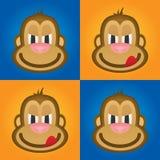 Aap vector, leuke aap, grappige aap, aaphoofd Royalty-vrije Stock Foto