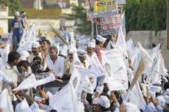 AAP-verzameling in Varanasi Stock Foto's