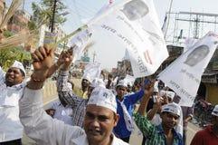 AAP wiec w Varanasi Zdjęcia Stock