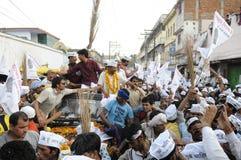 AAP wiec w Varanasi Fotografia Stock