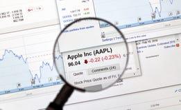 AAPL - De voorraad van Apple Inc Stock Afbeelding