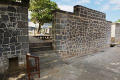 Aapravasi Ghat, der Kolonialgebäudekomplex des historischen Immigrations-Depots in Port Louis, Mauritius lizenzfreies stockfoto