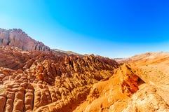 Aaprotsen door Dades kloof in Marokko stock foto