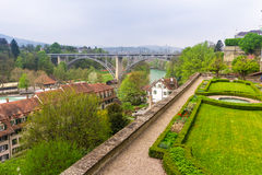 Aar river in city of Berne Stock Photos