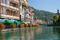 Aar river in Thun Royalty Free Stock Photos