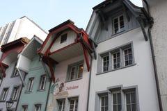 Aarau är en stad, en kommun och huvudstaden av den nordliga schweiziska kantonen av Aargau Arkivfoton