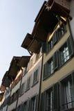 Aarau es una ciudad, un municipio, y el capital del cantón suizo septentrional de Argovia Fotografía de archivo