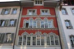 Aarau es una ciudad, un municipio, y el capital del cantón suizo septentrional de Argovia Fotografía de archivo libre de regalías