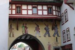 Aarau es una ciudad, un municipio, y el capital del cantón suizo septentrional de Argovia Fotos de archivo