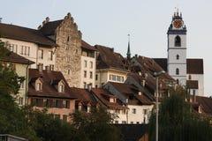 Aarau es una ciudad, un municipio, y el capital del cantón suizo septentrional de Argovia Imagen de archivo libre de regalías