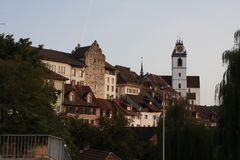Aarau est une ville, une municipalité, et le capital du canton suisse du nord d'Argovie Photographie stock