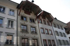 Aarau ist eine Stadt, ein Stadtbezirk und das Kapital des Schweizer Nordbezirks von Aargau lizenzfreies stockbild