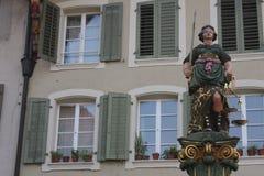 Aarau ist eine Stadt, ein Stadtbezirk und das Kapital des Schweizer Nordbezirks von Aargau Lizenzfreies Stockfoto