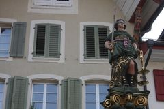 Aarau ist eine Stadt, ein Stadtbezirk und das Kapital des Schweizer Nordbezirks von Aargau stockbild