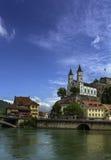 Aarburg-Kirche Stockfoto