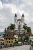 Aarburg kyrka, Schweiz Royaltyfri Fotografi