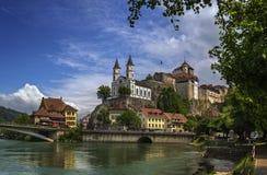 Aarburg-Schloss Lizenzfreies Stockfoto