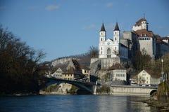 Aarburg-Schloss-Festung Lizenzfreie Stockfotografie