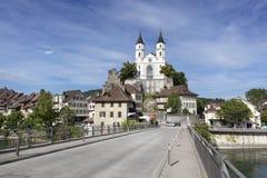 Aarburg Schweiz Arkivfoto