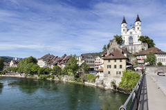 Aarburg Schweiz Royaltyfri Fotografi