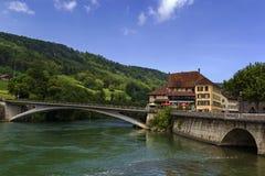 Aarburg Schweiz Royaltyfria Foton