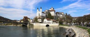 Aarburg slott, Schweiz Arkivfoto