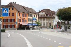 Aarburg stad i Schweiz Arkivfoto