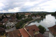 Aarburg stad i Schweiz Fotografering för Bildbyråer
