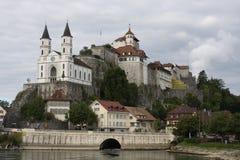 Aarburg stad i Schweiz Royaltyfri Foto