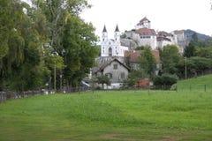 Aarburg-Stadt in der Schweiz Stockfotos