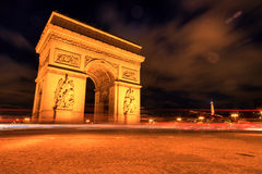 AArc de triomphe at Night, Paris. Arc de triomphe at Night, Paris, France Royalty Free Stock Images