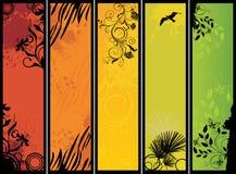 aard banners stock illustratie