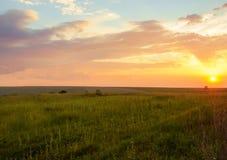 Aard bij zonsondergang Stock Foto