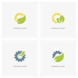 Aard, de industrie en ecologieembleem Stock Foto's