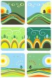 Aard en bergen Stock Illustratie