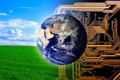 Aard en technologie Stock Foto's