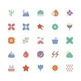 Aard Gekleurde Vectorpictogrammen 6 Royalty-vrije Stock Afbeelding