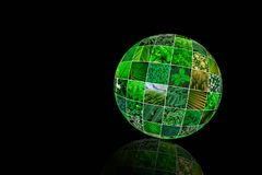 Aard groene collage Groen planeet creatief concept De Dag van de aarde De ruimte van het exemplaar Royalty-vrije Stock Afbeelding