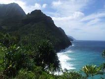 Aard van de Kust van Na Pali, Kauai, Hawaï Stock Fotografie