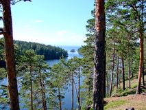 Aard van het Eiland Valaam Valaam - de plaats van bedevaart van Orthodoxe gelovigen Meer Ladoga, Valaam stock afbeeldingen
