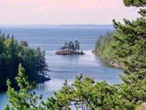 Aard van het Eiland Valaam Valaam - de plaats van bedevaart van Orthodoxe gelovigen Meer Ladoga, Valaam royalty-vrije stock afbeelding
