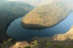Aard van Tsjechische Republiek - rivier Moldau Stock Afbeelding