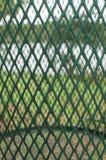 Aard zoals die door een bak van het metaalafval wordt gezien Royalty-vrije Stock Fotografie