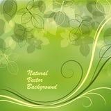 Aardachtergrond met groene bladeren stock illustratie